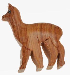 Alpaka Holz Magnet