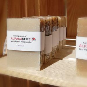 Seifen aus Alpakakeratin