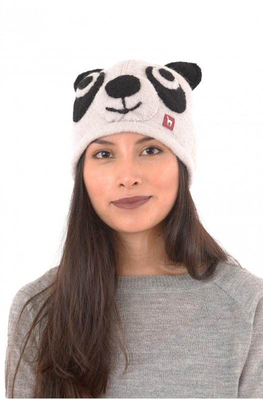 Pandahaube aus Alpaka